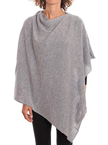 DALLE PIANE CASHMERE - Poncho aus 100% Kaschmir - für Frau, Farbe: Grau, Einheitsgröße