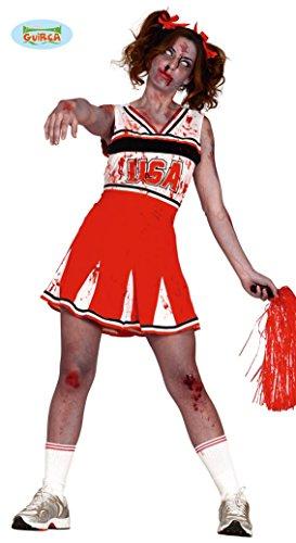 Guirca 84311 Pom-Pom Girl Zombie pour Adulte Taille M 38-40