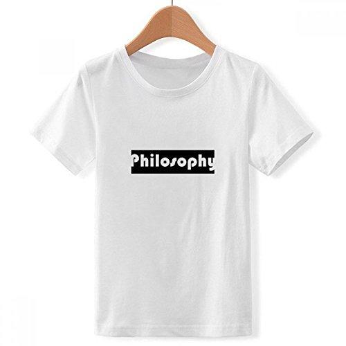 DIYthinker Curso y la filosofía Principal Cuello tripulación de la Camiseta para Chico Multicolor Pequeña