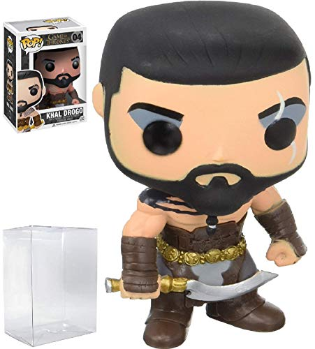 Funko Pop! Game of Thrones: GOT - Khal Drogo #04 Vinyl Figure (Includes Compatible Pop Box Protector Case)