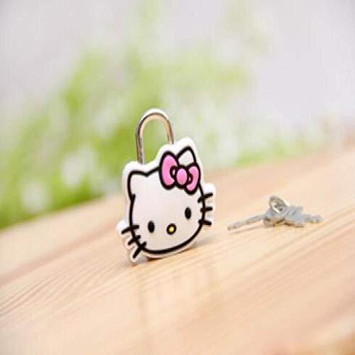 Preisvergleich Produktbild Vorhängeschloss Mini Cartoon Vorhängeschloss Reißverschlusstasche Rucksack Handtasche Kommode Schlüsselschloss Mit Schlüssel Gepäckschloss Whitecat