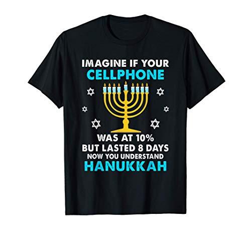 Funny Hanukkah Gifts Cellphone Chanukkah T-Shirt