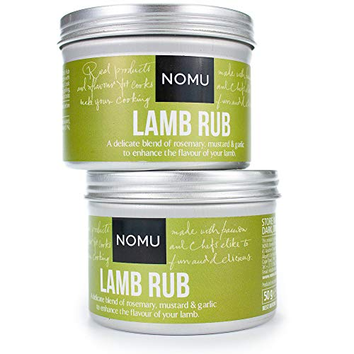 10. NOMU Lamb Seasoning Rub (2-Pack) – Blend of 12 Herbs and Spices – Paleo, Non-Irradiated, No MSG or Preservatives