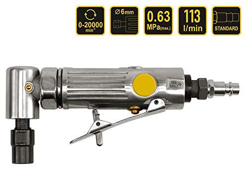 Druckluft-Winkelschleifer Stabschleifer 90° abgewinkelt Pneumatik Schleifer 6 mm Aufnahme