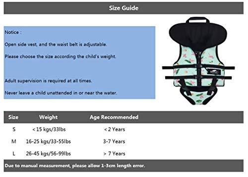 Gogokids Kids Swim Vest Children Float Jacket, Toddler Neoprene Floating Swimsuit with Headrest and Triangle Crotch Strap Boys Girls Flotation Swimwear, Navy M