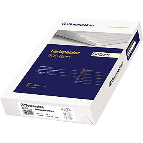 Soennecken Kopierpapier Brillant, DIN A4, 80 g/qm, hellchamois, 500 Bl./Pack.