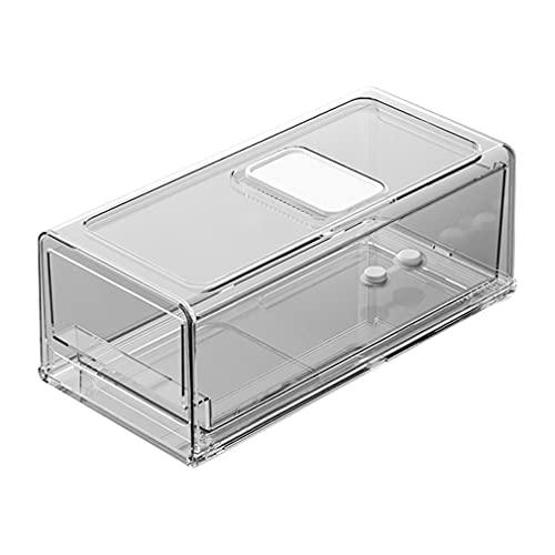 Haowen Frigorifero Conservazione Fresca Congelatore Cassetto Durevole Scatola portaoggetti da Cucina Trasparente 30 * 14,6 * 11,5 cm