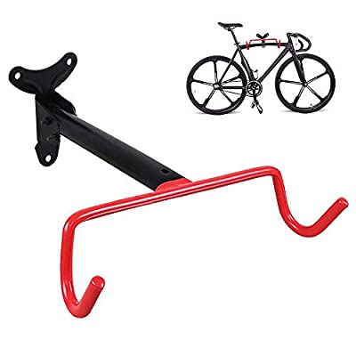 PHUNAYA Bike Hanger Wall Mount Bike Hook Horizontal Foldable Bicycle Holder Garage Bike Storage Bicycle Hoist Heavy Duty Screws