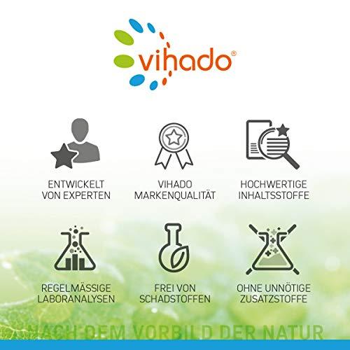 Vihado Multivitamin Tabletten hochdosiert – 26 Vitamine + Mineralstoffe + Q10 + Tagetes Erecta, 60 Kapseln, 1er Pack (1 x 52,7 g) - 4