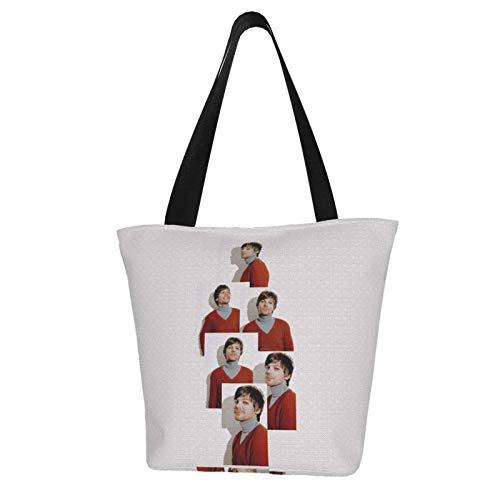 Lou_is Tom_Linson Women 'S Wiederverwendbare Einkaufstasche aus Segeltuch, modische Umhängetasche für Frauen 11 x 7 x 13 Zoll