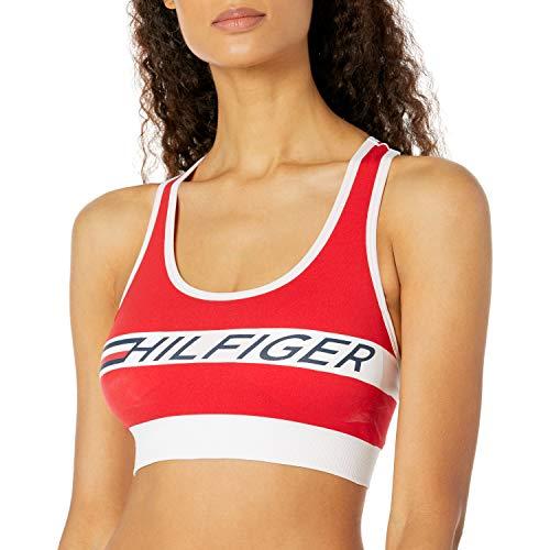 Tommy Hilfiger Women's Performance Sports Bra, Bright Scarlet, Extra Large