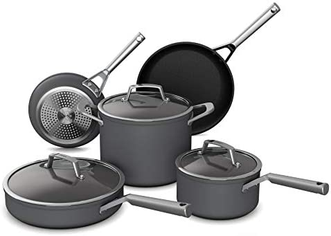 Ninja C38000 Foodi NeverStick Premium Hard Anodized 8 Piece Cookware Set slate grey product image