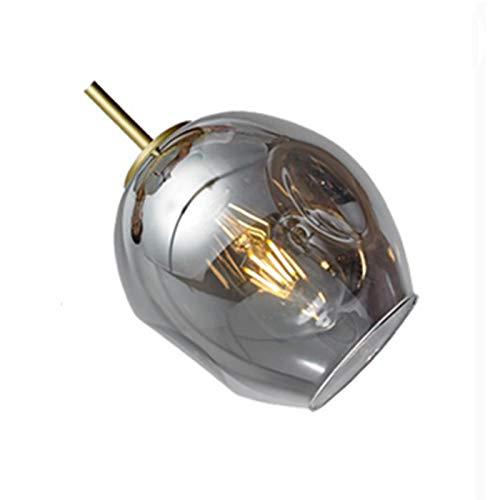 LIANGANAN Moderna lámpara de cristal de estilo nórdico for la sala de la lámpara Lámparas colgantes accesorios de iluminación iluminación de la lámpara Por escalera (Lampshade Color : Grey)