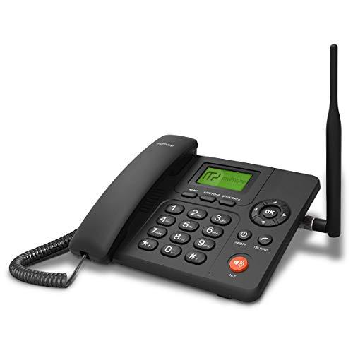 myPhone SOHO Line D31 GSM Tischtelefon für Büro und zu Hause, mit Farbdisplay, Freisprechen, Dual SIM, großem Display, Schnurloses Telefon mit Anrufbeantworter, Großtastentelefon mit Ladestation