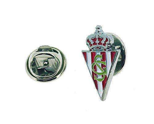Gemelolandia | Pin de Solapa Real Sporting de Gijón | Pines Originales y Baratos Para Regalar | Para las Camisas, la Ropa o para tu Mochila | Detalles Divertidos