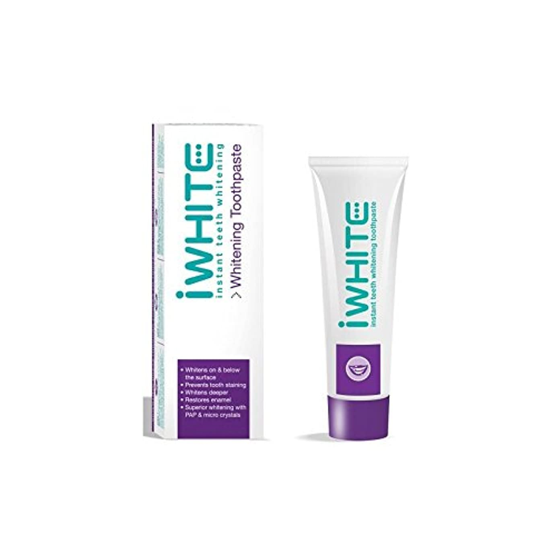 雨追跡原油歯磨き粉を白くインスタント歯(75ミリリットル) x4 - iWhite Instant Teeth Whitening Toothpaste (75ml) (Pack of 4) [並行輸入品]