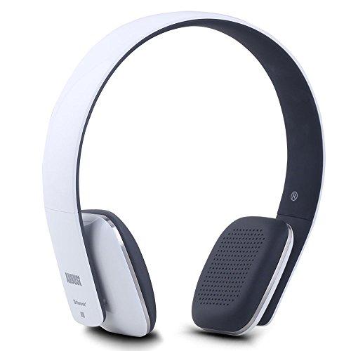 August EP636W - Bluetooth v4.1 NFC Kopfhörer - mit Freisprechfunktion und integriertem 14h Akku - Weiß