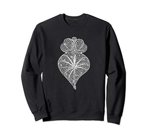 Herz von Viana-Portugiesischem Filigranschmuck Sweatshirt