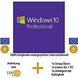MS Windows 10 Pro Multilingual 32 bit & 64 bit Vollversion - Original Lizenzschlüssel per Post u. E-Mail + Anleitung von TPFNet® - Versand max. 60Min