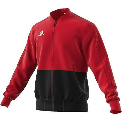 adidas Con18 Pre Jkt Chaqueta, Hombre, Rojo (Rojo/Negro/Blanco), S