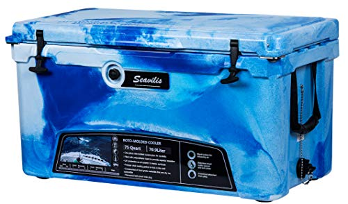 Seavilis Milee-Heavy Duty 75 QT ICE Chest Marine CAMO with($50.0 Accessories Sent Free) Free Divider,Cup Holder and Basket