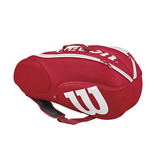 Wilson Sporting Goods Mini Vancouver - Borsa da Tennis, Confezione da 6, Colore: Rosso/Bianco