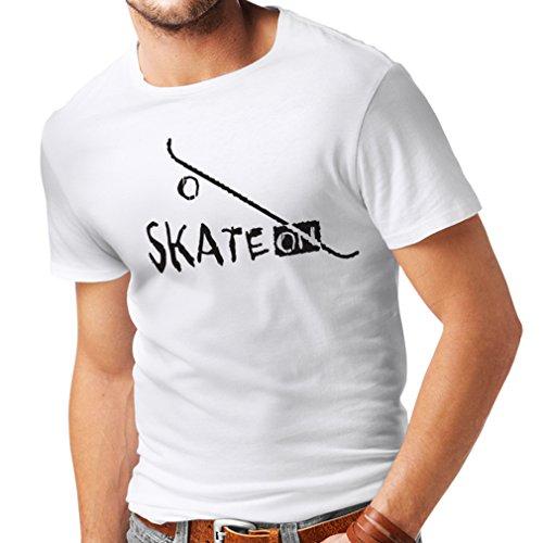 Männer T-Shirt Skate ON ! Unisex T-Shirt (XXXX-Large Weiß Schwarz)