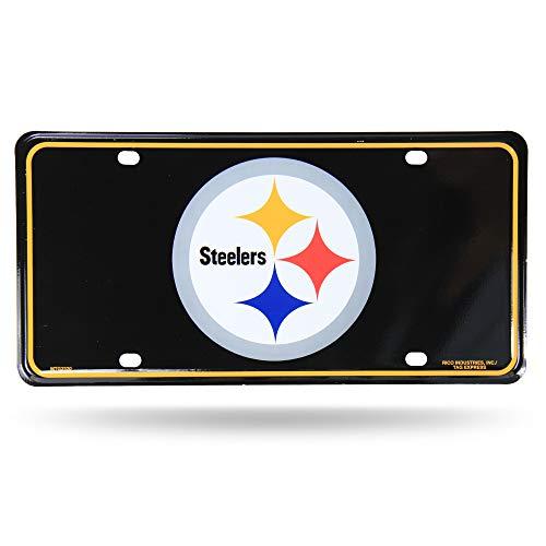 NFL Pittsburgh Steelers - Black Metal License Plate Tag