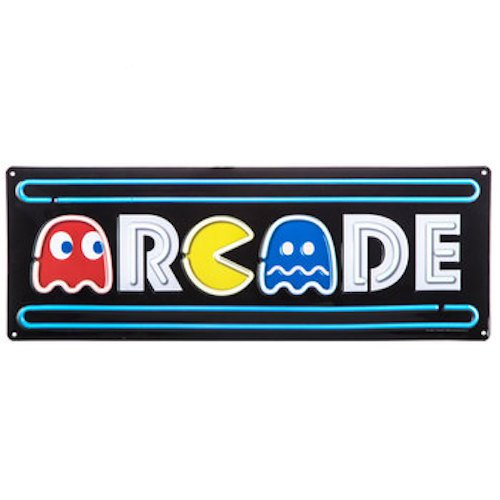 onlinepartycenter Arcade Pac-Man Metal Sign Wall Art Home Decoration Theater Media Room Man Cave