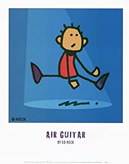 Air Guitar by Ed Heck - 16x20 Inches - Art Print Poster