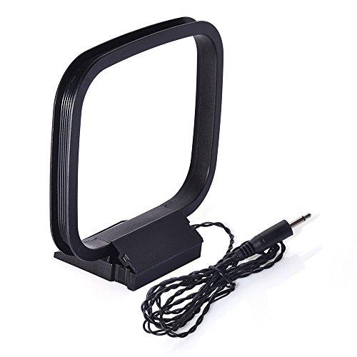 Bingfu Am Loop Antena con 75 Ohm Adaptador de 3