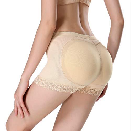 ZHYHAM Las mujeres que moldean la almohadilla del grifo de la barra de elevación de las caderas a tope potenciador de la cadera en forma de la ropa interior push bragas más tamaño S-3XL