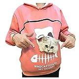 Reooly La Sudadera con Capucha Mujer con Capucha Animal Puede Llevar el Jersey Transpirable de Gato(Rosa,Medium)