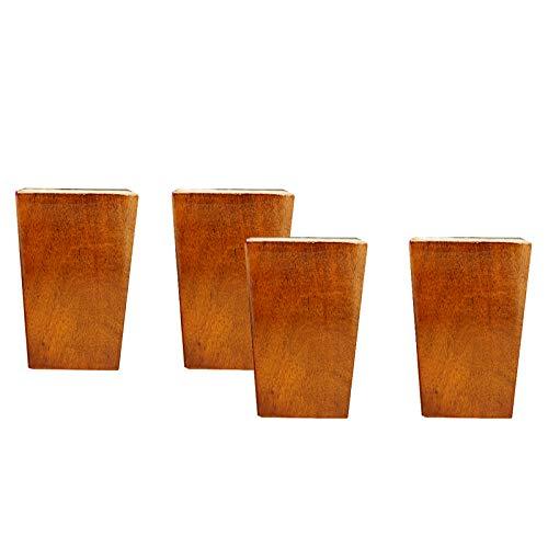 Patas De Madera Muebles, Patas De Sofá De Repuesto con Soporte Cuadrado con Tornillos para Sofá, Cama, Armario, Tocador, Armario(Size:6cm/2.3in,Color:Rojo)