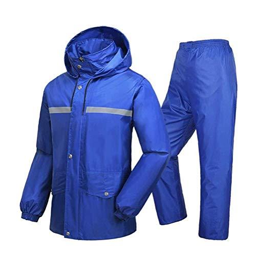 メンズ・レディース・防水レインジャケットメンズスノー&レインウェアアダルトシングル乗馬スプリットレインコートセットの防水オートバイ釣りのレインコートのためにユニセックスアウトドアアクティビティ(カラー:C、サイズ:XXXL) (色 : A, Size : Medium)