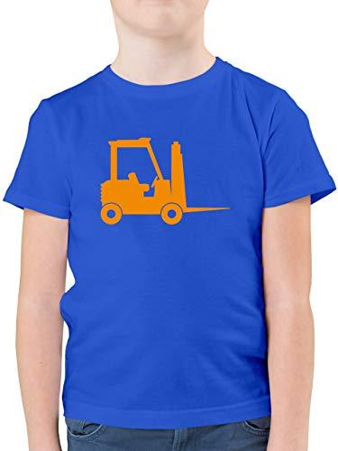 Fahrzeuge Kind - Gabelstapler - 116 (5/6 Jahre) - Royalblau - hubwagen - F130K - Kinder Tshirts und T-Shirt für Jungen