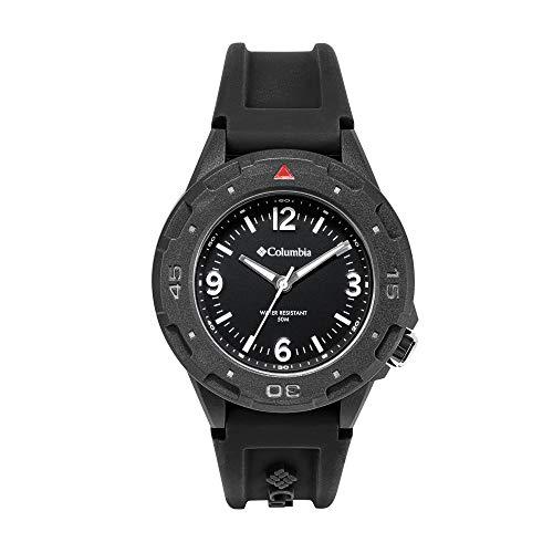 Columbia Men's Polycarbonate Japanese Quartz Sport Watch with Silicone Strap, Black, 6 (Model: CSS13-001)