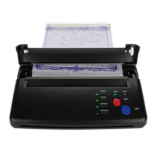 Tattoo Maschine Set, Tattoo Transfer Thermal Stencil Maschine Thermo Drucker Printer Kopierer Thermodrucker für Temporäre Tattoos Tätowierung Schwarz