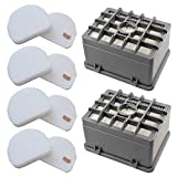 Fette Filter - Vacuum Filters Set Compatible with Shark Rotator NV450 NV451 / Rocket NV472 NV480 NV481 NV482 NV484 Professional Upright # XHF480 & XHF450 (height - 2.75') & XFF450 2 HEPA + 4 Foam Sets