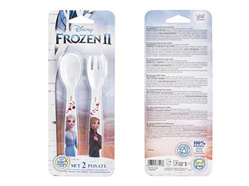 Lulabi 8271150 Disney Frozen Set Cucchiaio-Forchetta, Melamina