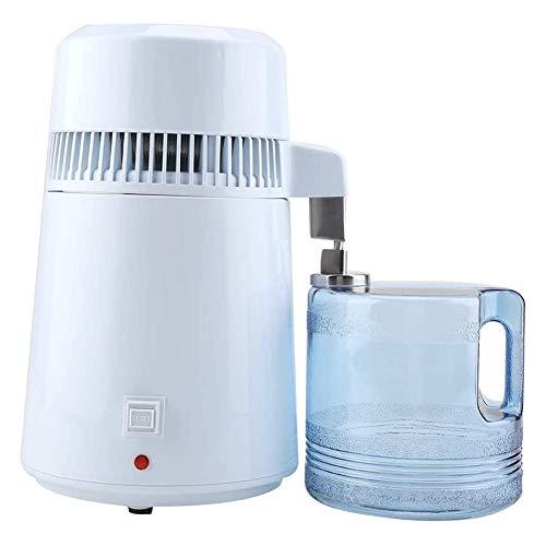 BCXGS Wasser Distiller Purifier Profi Wasserdestiller aus Edelstahl, 750 W Leistung 4 Liter Edelstahl-Wasserdestillierapparat mit Glasdüseneinsatz