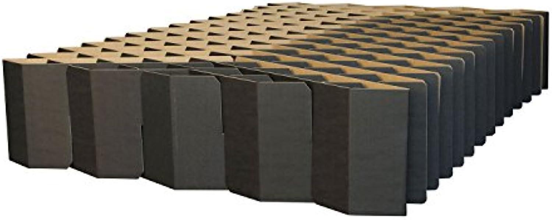 ROOM IN A BOX Bett 2.0 M Schwarz  Klappbett aus Wellpappe 120 140 x 200 cm und Zwischengren. Auch als Gstebett. Lattenrost Nicht ntig.