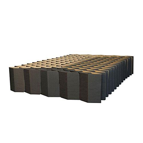 ROOM IN A BOX Bett 2.0 M/Schwarz: Klappbett aus Wellpappe 120 140 x 200 cm und Zwischengrößen. Auch als Gästebett. Lattenrost Nicht nötig.