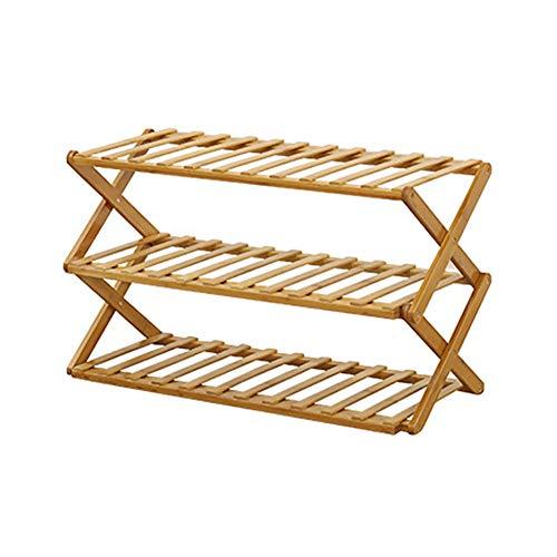 Genlesh Zapatero estante para plantas, zapatero plegable, organizador de almacenamiento de madera para el hogar, jardín, patio