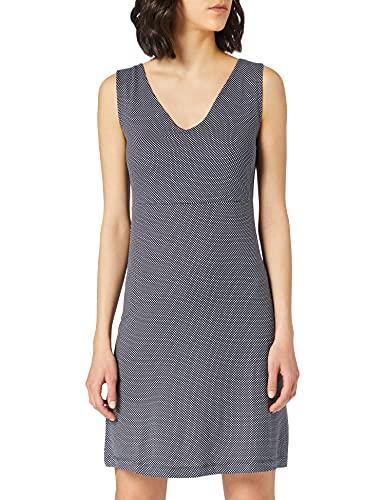 TOM TAILOR Damen 1024074 Jersey Kleid, 26025-Navy White Minimal Dot Print, 42