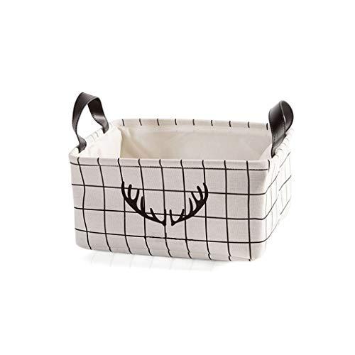 Panier de Rangement Tissu Jouet Snack Home Vêtements Sales Grande capacité Coton et Lin Imperméable Petite Taille Grand ZHJING (Color : White, Size : Large)