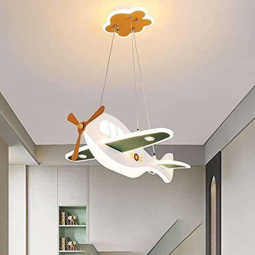 Habitación para niños Aroquinerario Aeroplano Moderno LED Montaje enjuague Lámpara de techo con forma de ave Lámparas Modernas Nórdicas Minimalistas Protección ocular Lámpara Colgante para niños Habit