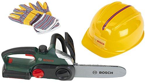 Theo Klein 8456 Bosch Kettensäge, Helm, Handschuhe, Spiel