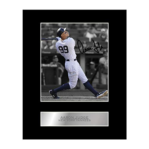 Aaron Judge Signed Mounted Photo Display New York Yankees MLB Autographed Gift Picture Print
