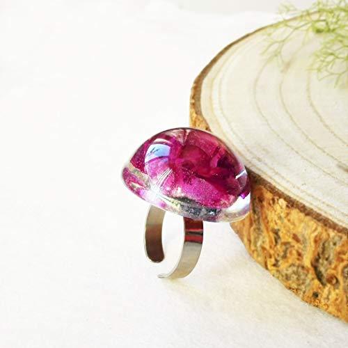 Echte Rose Ring, handgemacht, Geschenk für Freundin oder Frau, Ring mit blumes